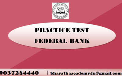 FEDERAL BANK PRACTICE TEST